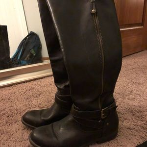 Report knee high boots